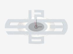 Orologio da parete con illuminazione a forma di croce figurata