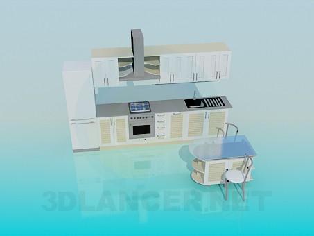 3d model Kitchen - preview