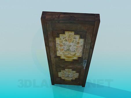 3d модель Дверь с орнаментом – превью