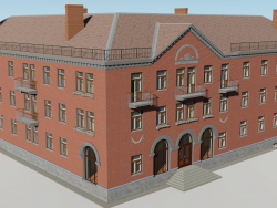 Corner three-story building 1-254-9