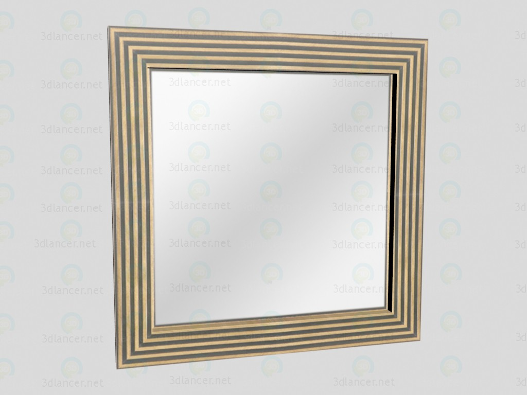 3d model Mirror Gold VOX - preview
