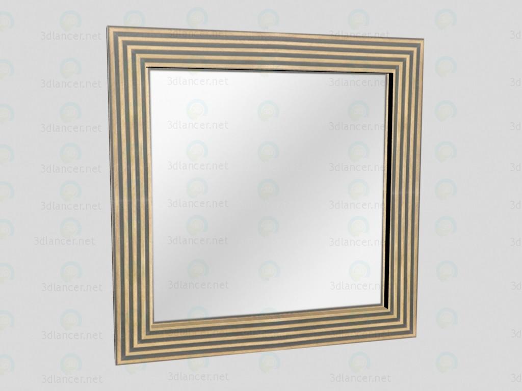 3d modeling Mirror Gold model free download