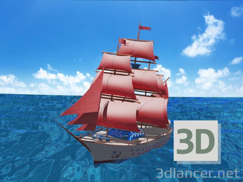 3 डी सेलबोट 'राज' मॉडल खरीद - रेंडर