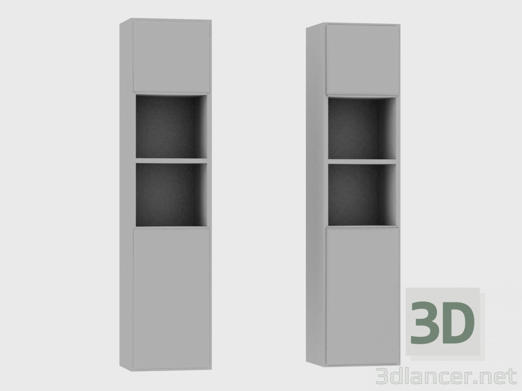 3d model Elements of the modular system IANUS MIDDLE WITH BACK (N193) - preview