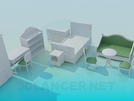 3d model Set in a children's room - preview