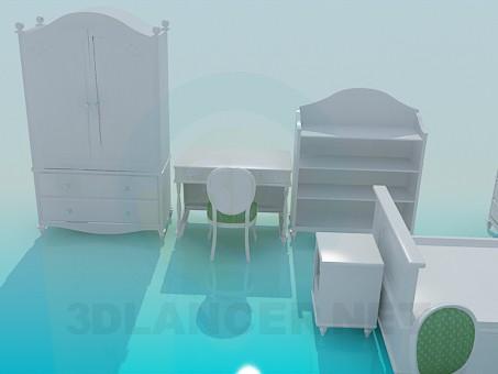 modelo 3D Situado en una sala para niños - escuchar