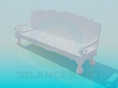 3d model Wooden bench - preview