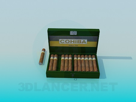 3d modeling Cohiba Cigars model free download