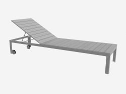 Sun bed (headboard is raised, light)