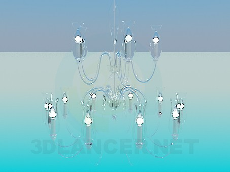 3d model Chandelier with candles - preview