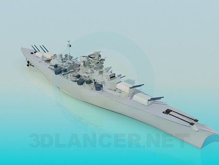 3d model Warship - preview