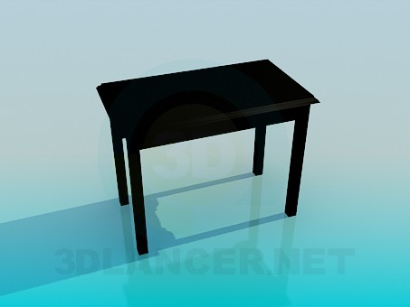 3d modeling Kitchen table model free download