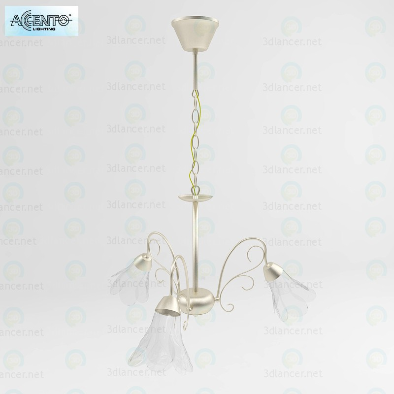 3d Chandelier Accento Lighting Korra model buy - render