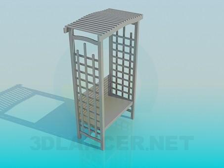 3d модель Садовая лавка – превью