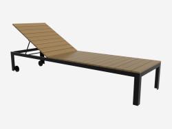 Sun bed (headboard is raised, dark)