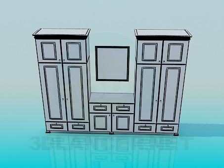 modelo 3D Placard en dormitorio - escuchar