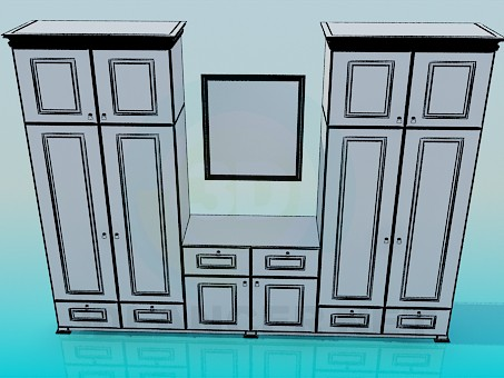 3d model Closet in bedroom - preview