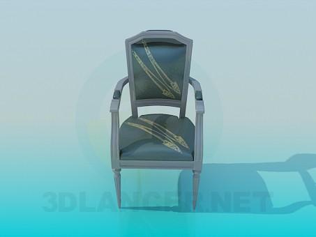modelo 3D Silla suave con brazos - escuchar
