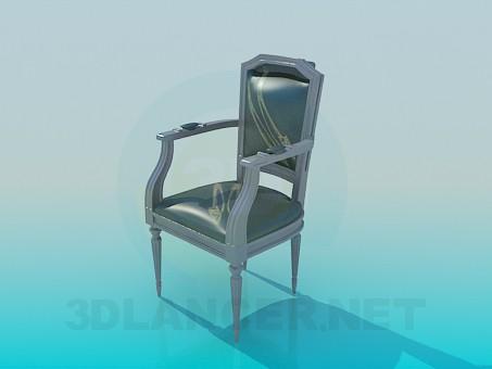 3d модель Мягкий стул с подлокотниками – превью