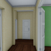 3d Corner two-story building 1-552-2 model buy - render