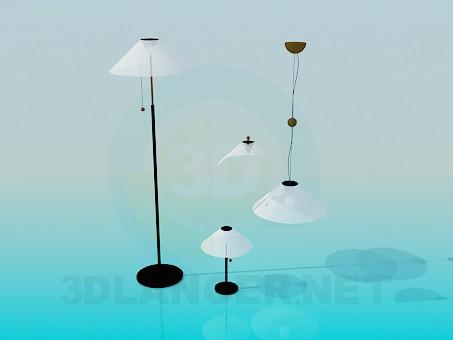 3d модель Торшеры и лампы в наборе – превью