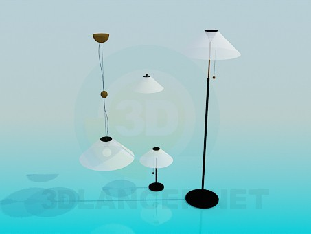 3d model Floor lamps and lamps set - preview