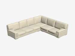 Canapé d'angle modulaire élégant
