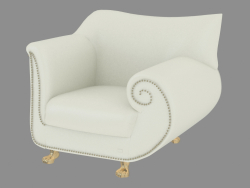 Armchair leather in art-deco style A210
