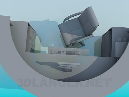 modelo 3D El mostrador semicircular - escuchar