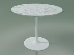 Tavolino ovale 0742 (H 43 - 51x47 cm, marmo, V12)