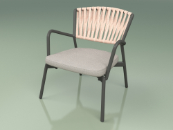 Chair with soft seat 127 (Belt Rose)