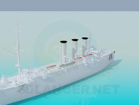 3d модель Большое судно – превью