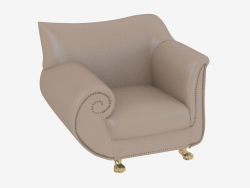 Armchair leather in art-deco style A210r