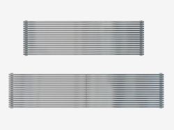 Heated stainless steel radiator Giada