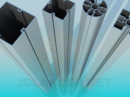modelo 3D Perfiles de aluminio - escuchar