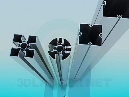 3d модель Алюминиевые профили – превью