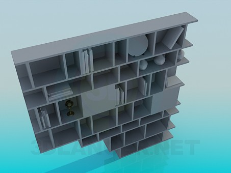 3d model Shelving for books and souvenirs - preview