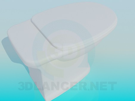 3d model Toilet without toilet tank - preview
