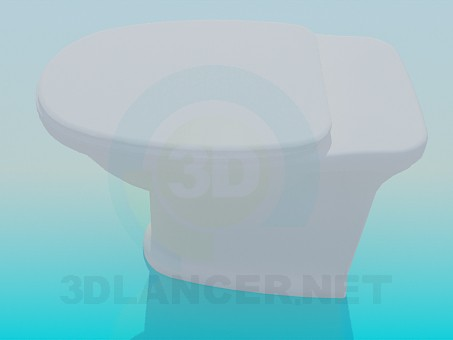 modelo 3D Inodoro sin tanque - escuchar