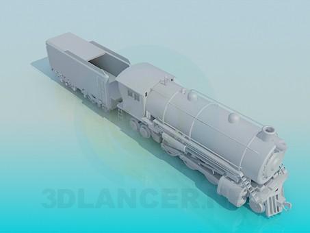 3d model Locomotive - preview