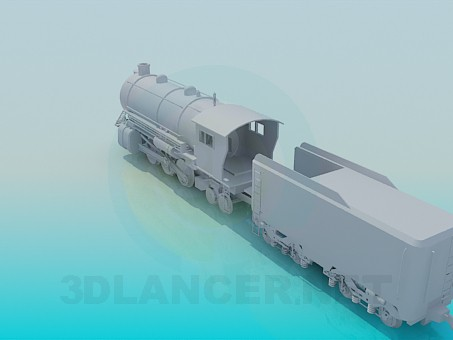modelo 3D Locomotora - escuchar