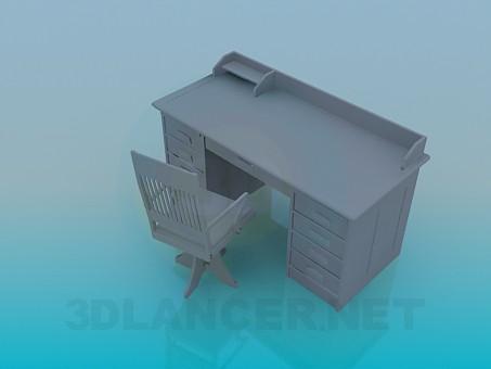 3d модель Рабочий стол – превью
