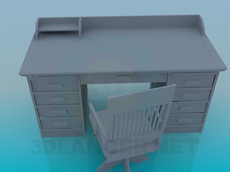 3d model Work-table - preview