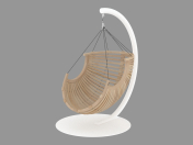 Wooden hanging chair
