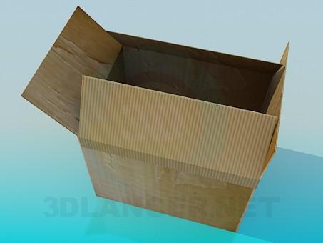 modelo 3D Caja de cartón - escuchar