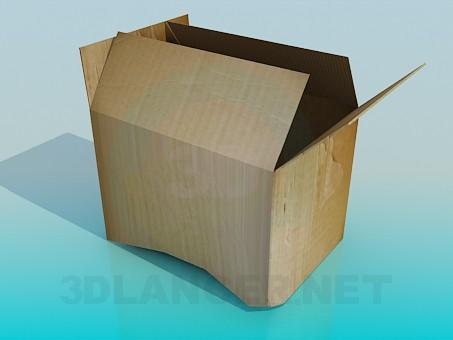 3d модель Картонная коробка – превью