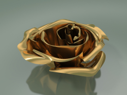 Decor Element Rose (D 10cm, Oro)