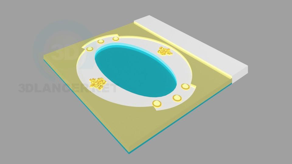3d модель Фігурна стеля 4 – превью