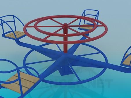 3d model Children's carousel - preview