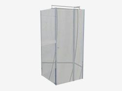 Cabin square 90 cm Cubic (KTI 043P)